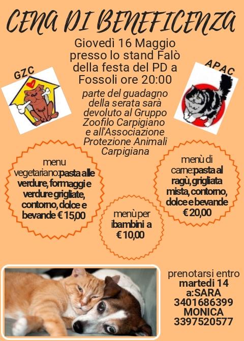 competitive price 5cc7a 49578 Cena di beneficenza per Gattile e Canile🐱🐶 - Gattile Di ...